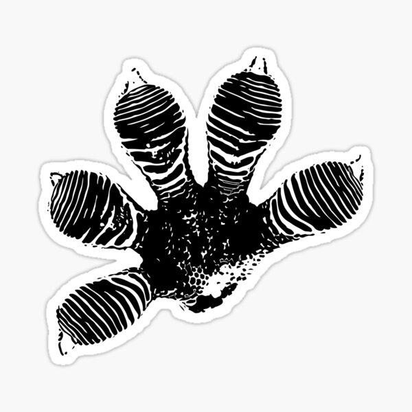Gecko High Five Sticker
