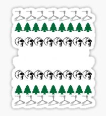 Back to the Future Ugly Christmas Sweater Sticker