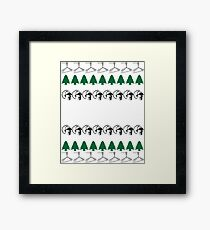 Back to the Future Ugly Christmas Sweater Framed Print