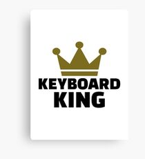 Keyboard King Canvas Print