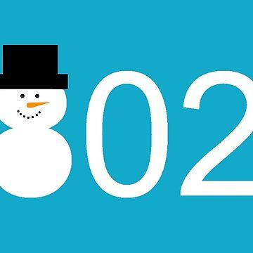 Vermont 802 Snowman t-shirt by alittlebluesky