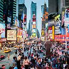 Times Square Tourists (digital painting) by Raymond Warren