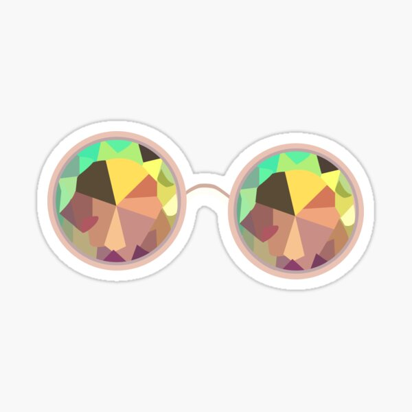Kaleidoscope Glasses Sticker
