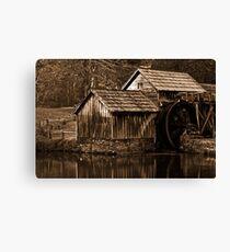 Mabry Monochrome Mill - Sepia Nostalgia Canvas Print