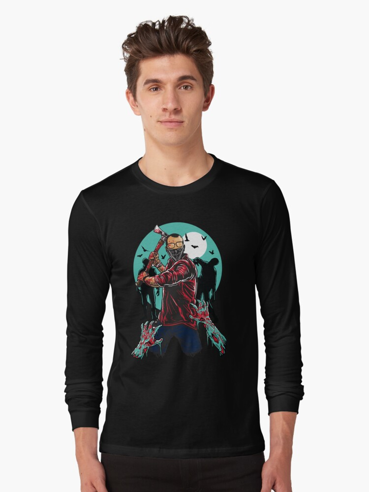 Zombie Maniac Killer Long Sleeve T-Shirt Front