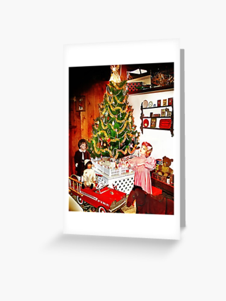 Old Fashioned Christmas Greeting Card By Mstique Redbubble
