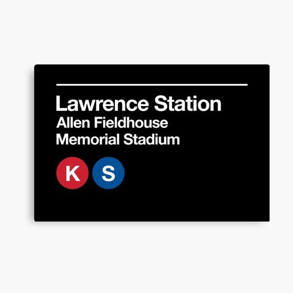 Lawrence, Kansas (KU) Sports Venue Subway Sign Canvas Print