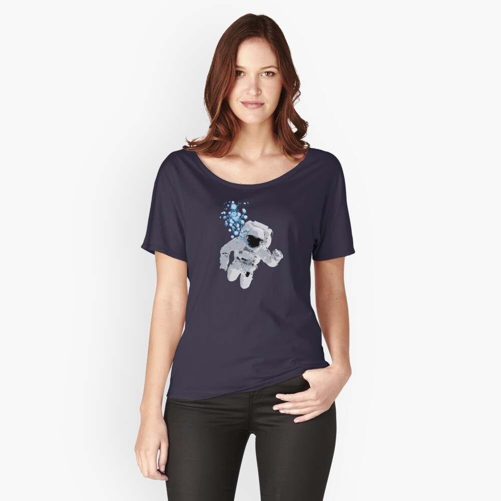 Bubbles In Space - Nasa Hoax - Flat Earth - Space Bubbles Relaxed Fit T-Shirt