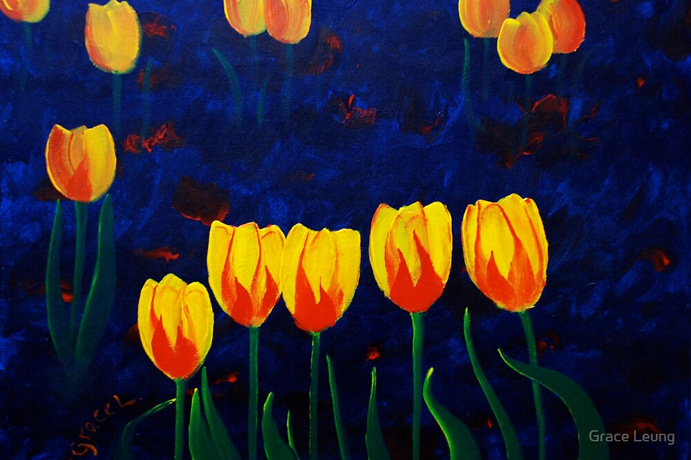 Dancing Tulips by Grace Leung