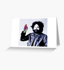 Jerry Garcia And The Magic Hand OG Greeting Card