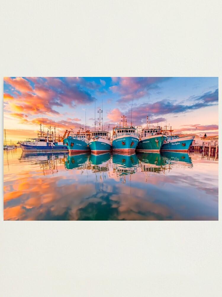 Alternate view of Fremantle Boats, Western Australia Photographic Print