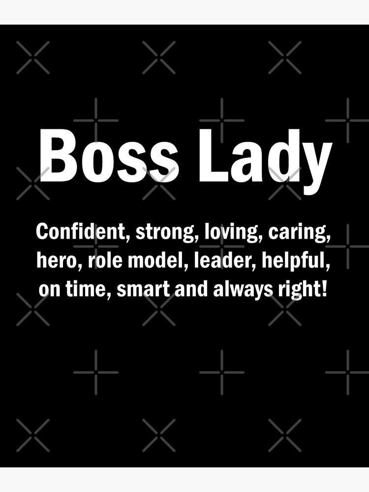 Boss Lady English Quotes Mamá Esposa Regalo del Día de la Madre de JapaneseInkArt