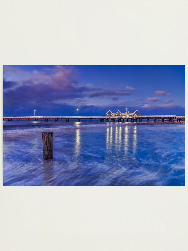 Alternate view of Busselton Jetty, Western Australia Photographic Print
