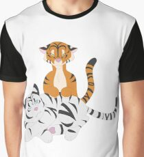 Playful Tigers Graphic T-Shirt