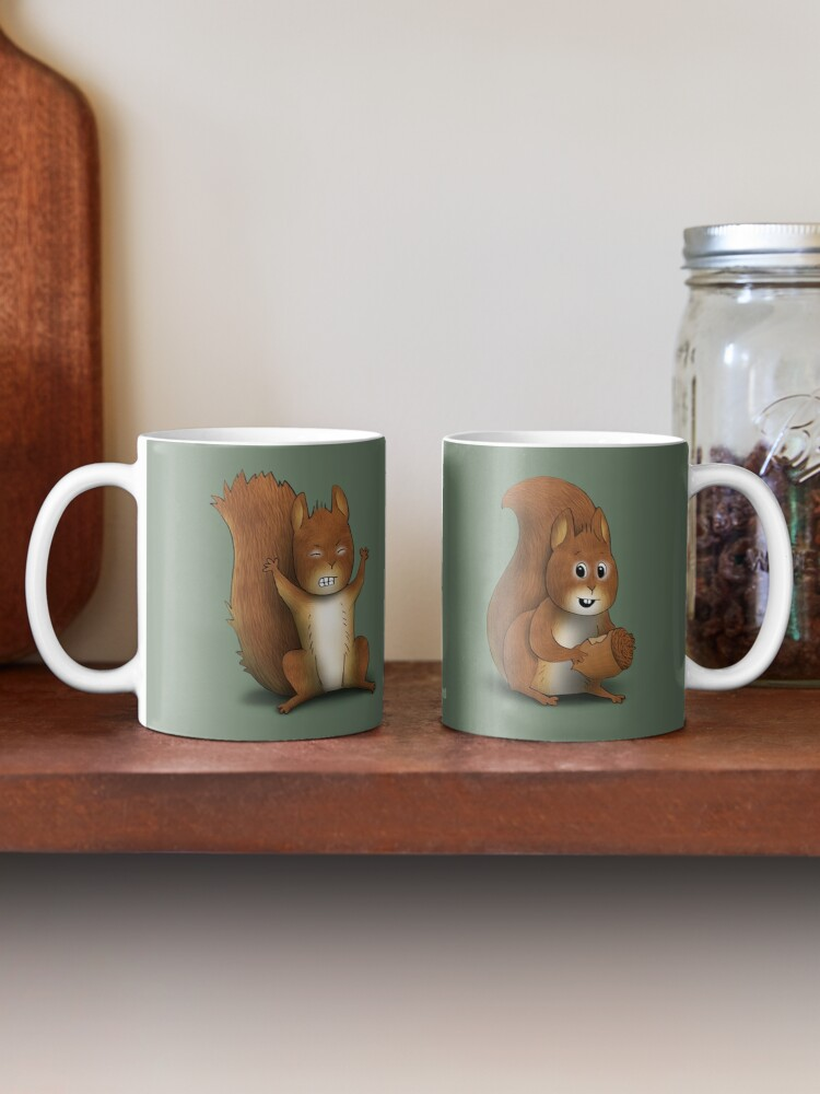 Alternate view of Two Moods of Squirrel Mug