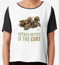 Mother Nature is the Cure Chiffon Top