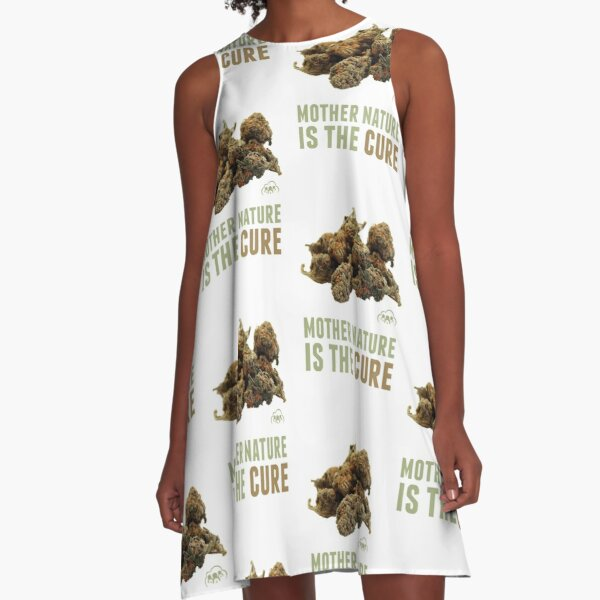 Mother Nature is the Cure A-Line Dress