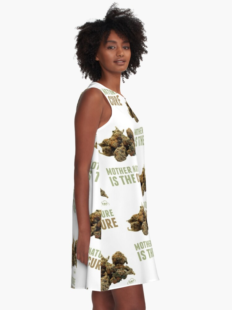 Alternate view of Mother Nature is the Cure A-Line Dress