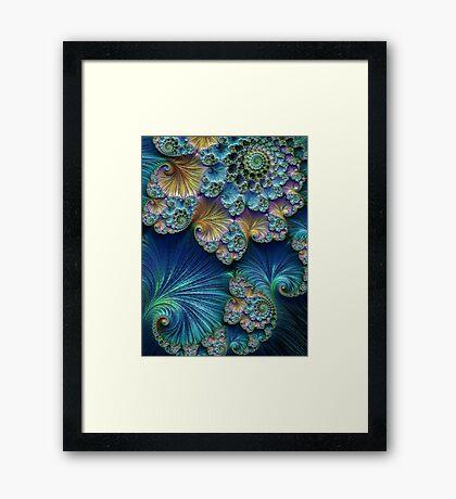 Golden Seafoam Swirl Framed Print