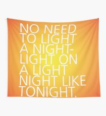 Light a Nightlight - Tongue Twisters Wall Tapestry