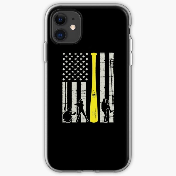 American Flag Baseball iPhone Soft Case