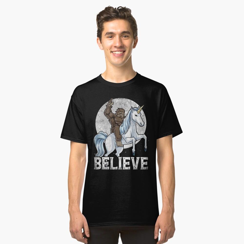 0cacb250 Bigfoot Riding Unicorn T Shirt Funny Sasquatch Vintage Tees