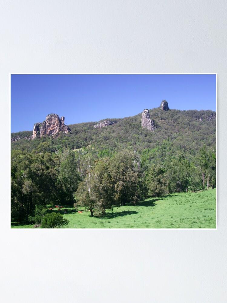 Alternate view of Nimbin Rocks Poster