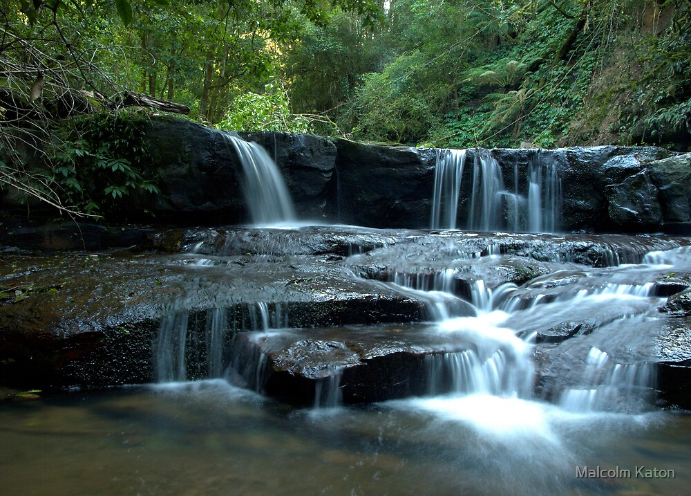 Mystery Location Falls - Kangaroo Valley, NSW by Malcolm Katon