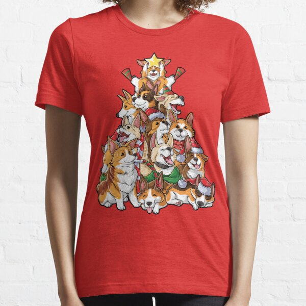 Corgi Christmas Tree T shirt Merry Corgmas I love Corgis my Gifts Essential T-Shirt
