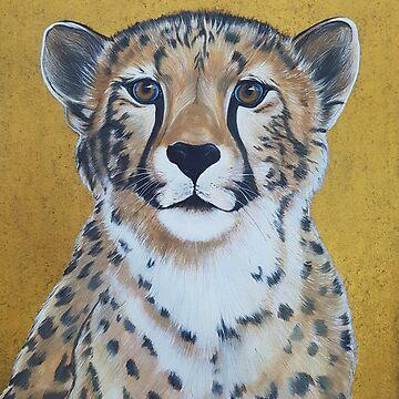 Cheetas, acrylic on canvas by Katarinart
