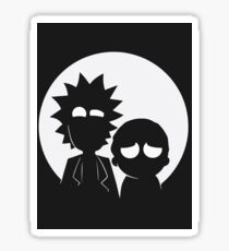 Rick and Morty (White) Sticker
