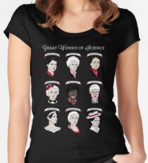 Cool Great Women of Science T Shirts Gifts for Womens Mens Fitted Scoop T-Shirt
