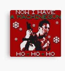 UGLY CHRISTMAS MACHINEGUN Canvas Print