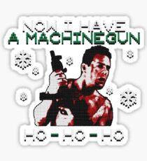 UGLY CHRISTMAS MACHINEGUN Sticker