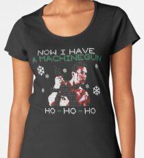 UGLY CHRISTMAS MACHINEGUN Women's Premium T-Shirt