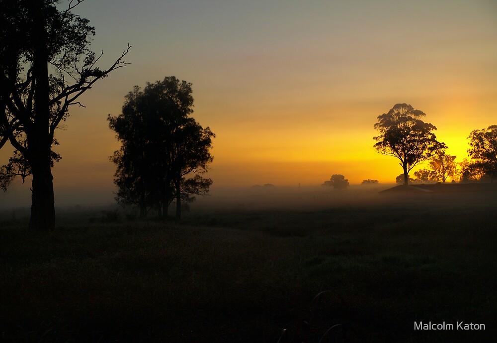 Burning Mist - Badgerys Creek, NSW by Malcolm Katon