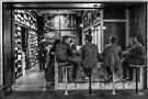 Market Cafe B&W by Ray Warren