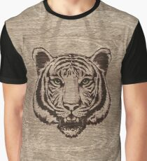Tiger on pyrograph on wood  Graphic T-Shirt