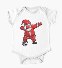 Dabbing Santa Soccer T Shirt Claus Christmas Funny Dab X-mas One Piece - Short Sleeve