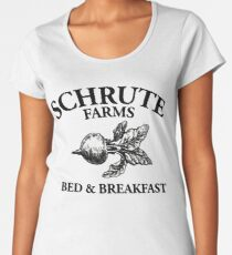Schrute Farms - Bed and Breakfast - Logo - The Office Women's Premium T-Shirt