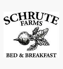 Schrute Farms - Bed and Breakfast - Logo - The Office Photographic Print