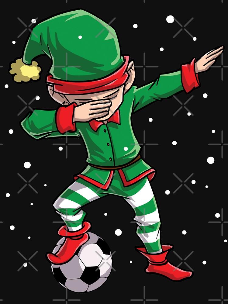 Dabbing Elf Soccer T Shirt Christmas Funny X Mas Elves Dab By Liquegifts