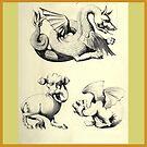 Medieval Gargoyle Illustrations from Augustus Pugin 1854 by katastrophy
