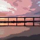 Sunset under the Crossing by Kasia-D