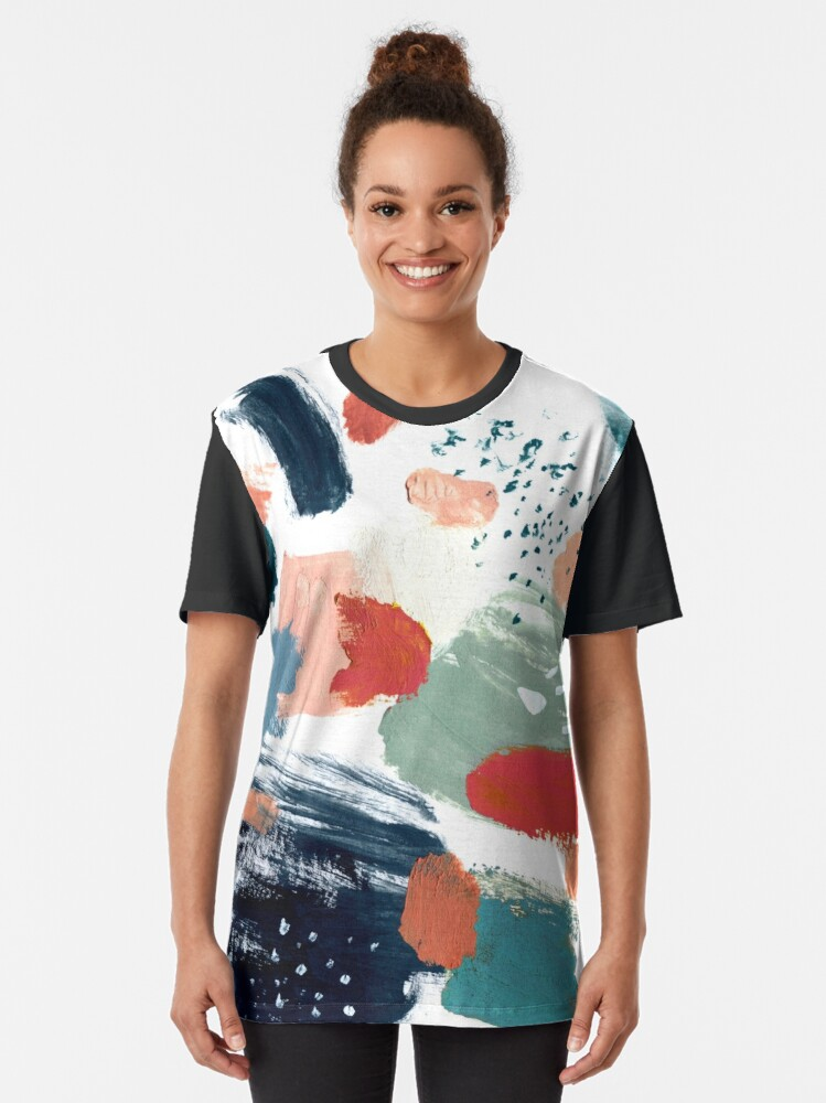 Alternate view of Abstraction 17 Graphic T-Shirt