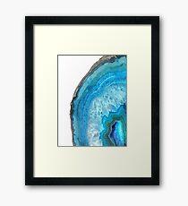 Druze Blue Agate Framed Print