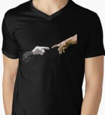 Creation Of Adam By Michelangelo Robot Arm T-Shirt