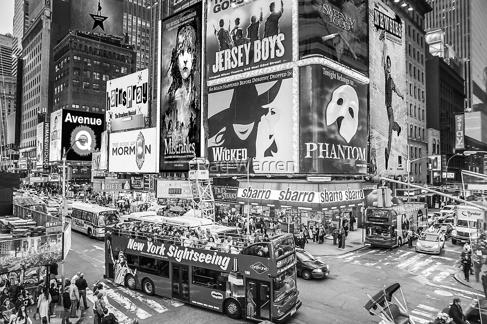 Times Square II Special Edition II (B&W) by Raymond Warren