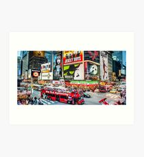 Times Square II widescreen Art Print