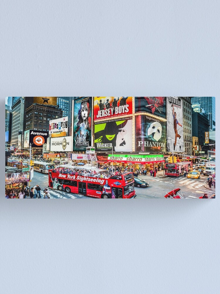 Alternate view of Times Square II widescreen Canvas Print